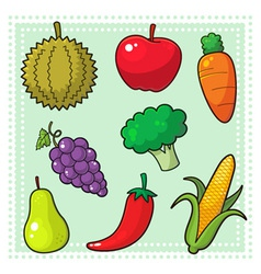 Fruits and Vegetables 01 vector image vector image