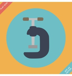 G Clamp Icon - Flat vector image vector image