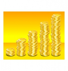 gold coins step vector image vector image