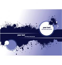 grunge blot banner vector image vector image