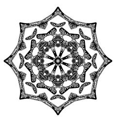 Handdrawn pattern star shape vector