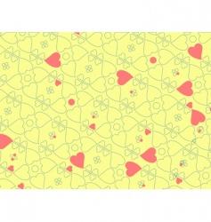 heart motifs vector image