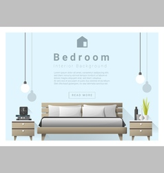 Interior design bedroom background 4 vector