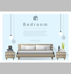 Interior design bedroom background 4 vector image vector image