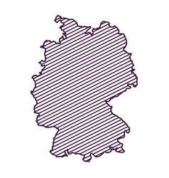 Isolated map of germany design vector