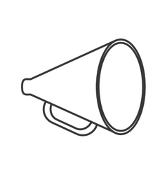 Megaphone tool communication design vector