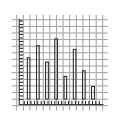 monochrome silhouette with statistic graphic bars vector image vector image