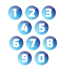 Number set button vector