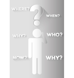 Question mark and solutions vector image vector image