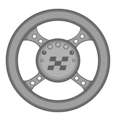 Racing rudder icon black monochrome style vector