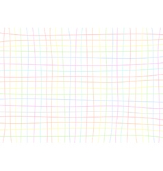 Rainbow grid white background vector