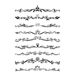 Retro style set of ornate floral patterns template vector image vector image