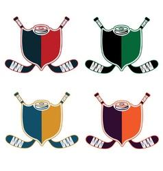 set of Hockey Sport Crests vector image