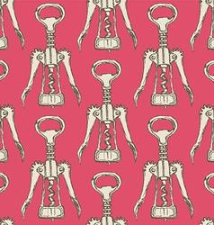 Sketch cute corkscrew in vintage style vector image vector image