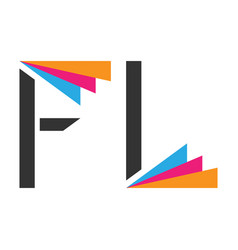 stylized f and l vector image