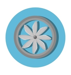 Turbine air isolated icon vector