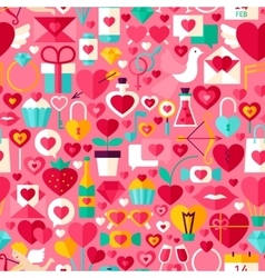 Valentine day pink seamless pattern vector