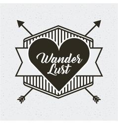 Wanderlust spirit design vector