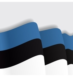 Estonian waving flag vector