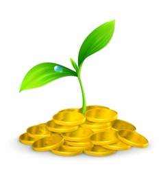 Plant and coins 10eps vector