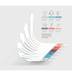 Business arrows infographics template vector