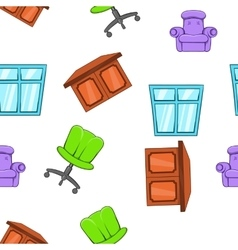 Home furniture pattern cartoon style vector