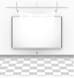 Empty room with square floor illumination and vector