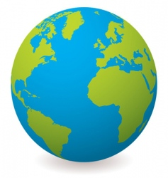 Natural earth globe vector