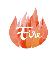 Fire symbol of the four elements vector