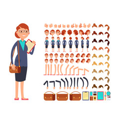 cartoon flat businesswoman character vector image