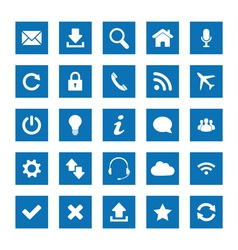 Square web icons vector image