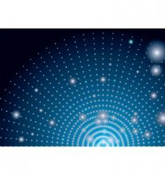 alien landing lights vector image