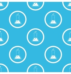 Conical flask sign blue pattern vector