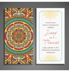 Elegant indian ornamentation on a dark background vector