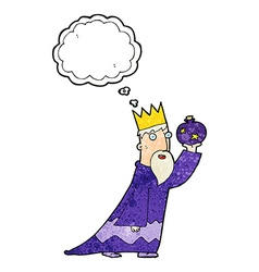 One of the three wise men with thought bubble vector