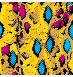 Snake skin texture seamless pattern pink blue vector