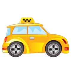 Car taxi on white background vector