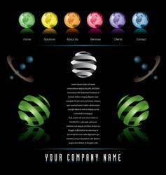 globes web vector image
