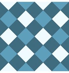Ocean Blue White Diamond Chessboard Background vector image