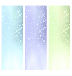 Abstract water bubbles banners vector