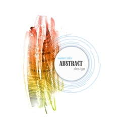 Abstract Watercolor Colorful Background Design vector image