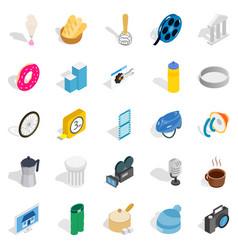 adaptation icons set isometric style vector image