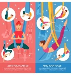 Aero yoga banner set vector