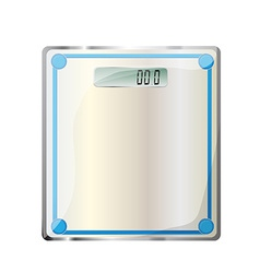 Bathroom digital scale vector