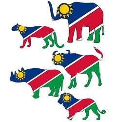 Big five namibia vector