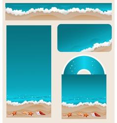 Branding design beach theme vector