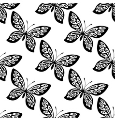 Butterfly seamless pattern vector image vector image