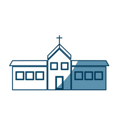 christian church building religion concept vector image