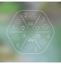 Circle line infographic Template for cycle vector image vector image