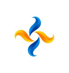 circle shape abstract move logo vector image
